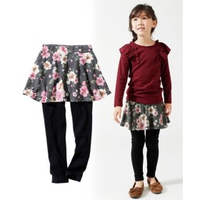 フレアスカッツ(女の子 子供服。ジュニア服)レギンス付スカート (スカート付パンツ)