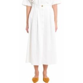 フォルテフォルテ スカート レディース【Forte_Forte Skirt With Slit And Pinces】Bianco