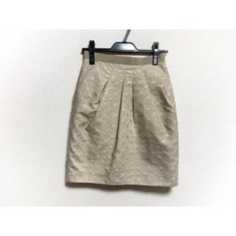 ジャスグリッティー JUSGLITTY スカート サイズ1 S レディース ベージュ ドット柄/ラメ【中古】