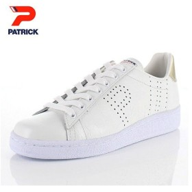 パトリック スニーカー ケベックロ ピー PATRICK QUEBECRO-P W/G 530895 ホワイト ゴールド メンズ レディース 靴 本革 日本製