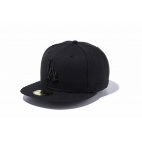 ニューエラ(NEW ERA) 59FIFTY MLB ロサンゼルス・ドジャース ブラック × ブラック 11308637