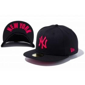 ニューエラ(NEW ERA) 59FIFTY UNDERVISOR ニューヨーク・ヤンキース ブラック × ストロベリー NEW YORK 11308538