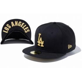 ニューエラ(NEW ERA) 59FIFTY UNDERVISOR ロサンゼルス・ドジャース ブラック × ゴールド LOS ANGELES 2 11434024