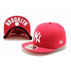ニューエラ(NEW ERA) Kids 59FIFTY UNDERVISOR ニューヨーク・ヤンキース ブライトローズ × ホワイト BROOKLYN 11310396