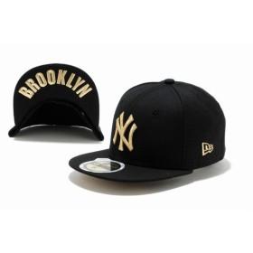 ニューエラ(NEW ERA) Kids 59FIFTY UNDERVISOR ニューヨーク・ヤンキース ブラック × ゴールド BROOKLYN 11310399