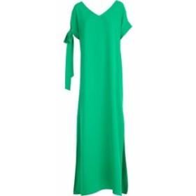 パロッシュ ドレス カジュアルドレス 結婚式用 レディース【Parosh Dress S/s W/knot Long Front】Verde Sme