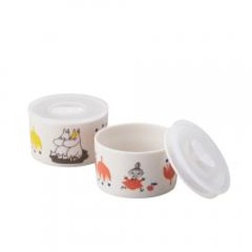 ムーミン kukka(お花)シリーズ レンジ2点セット (Sサイズ)高密封保存容器 山加商店 MOOMIN