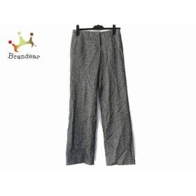 トゥモローランド パンツ サイズ36 S レディース 黒×アイボリー 千鳥格子/collection     スペシャル特価 20190806