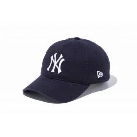 ニューエラ(NEW ERA) 9TWENTY Leather Strap ウォッシュドコットン ニューヨーク・ヤンキースCT ネイビー × ホワイト 11440115