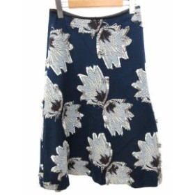 中古 síːm スィーム 花柄 刺繍 フレアスカート