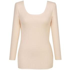 インナー 肌着 レディース 七分袖 八分袖 ウイング ぬくもりインナー 綿の贅沢 肌側綿100%8分袖インナー 「ベージュ」