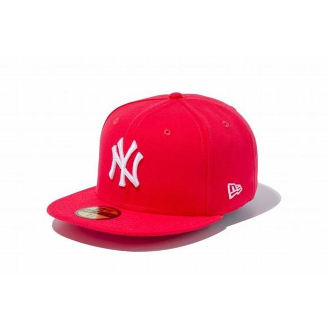 ニューエラ(NEW ERA) 59FIFTY MLB ニューヨーク・ヤンキース ラヴァレッド × ホワイト 11308549