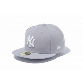 ニューエラ(NEW ERA) 59FIFTY MLB ニューヨーク・ヤンキース グレー × ホワイト 11308553