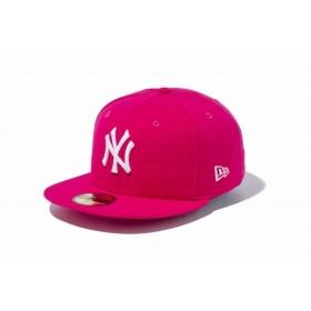 ニューエラ(NEW ERA) 59FIFTY MLB ニューヨーク・ヤンキース ブライトローズ × ホワイト 11308561
