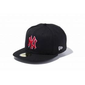 ニューエラ(NEW ERA) 59FIFTY MLB ニューヨーク・ヤンキース ブラック × レッド ホワイトアウトライン 11308567
