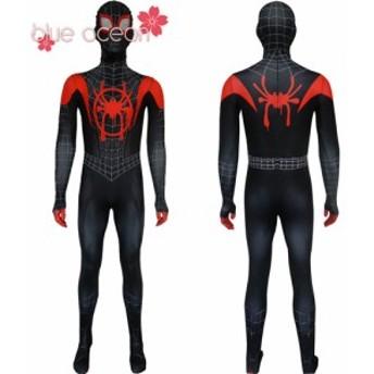 スパイダーマン: スパイダーバース SPIDER-MAN: INTO THE SPIDER-VERSE 全身タイツ 子供用 大人用 コスプレ衣装 仮装 cosplay アニメ