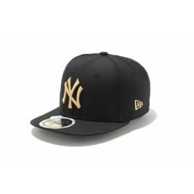 ニューエラ(NEW ERA) Kids 59FIFTY ニューヨーク・ヤンキース ブラック × メタリックゴールド 11310410