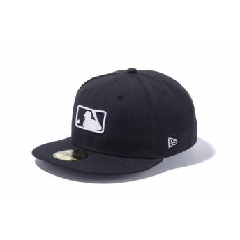 ニューエラ(NEW ERA) 59FIFTY MLBロゴ ブラック × ホワイト 11596353