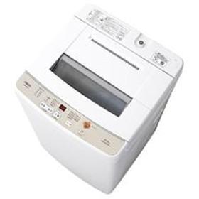 全自動洗濯機 [3Dアクティブ洗浄][高濃度クリーン浸透] ホワイト 【ノンインバータ/洗濯6.0Kg】★大型配送対象商品 AQW-S60G-W