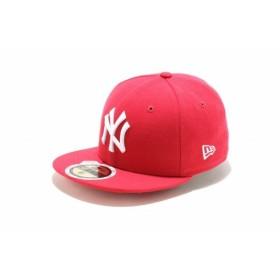 ニューエラ(NEW ERA) Kids 59FIFTY ニューヨーク・ヤンキース ブライトローズ × ホワイト 11310404