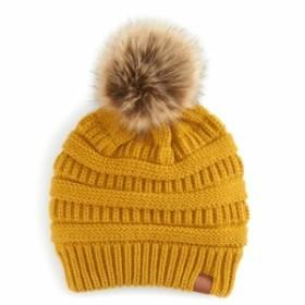 a010299b50e エスオー ニット帽 ビーニー帽 レディース so Womens SO Knit Pom Pom Beanie Mustard