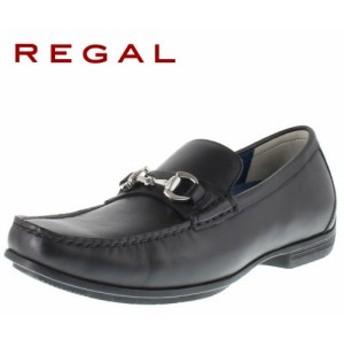 リーガル REGAL 靴 メンズ ローファー ビット カジュアルシューズ 57HR AF ブラック 紳士靴 本革 特典B