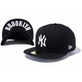 ニューエラ(NEW ERA) 59FIFTY UNDERVISOR ニューヨーク・ヤンキース ブラック × ホワイト BROOKLYN 11308541