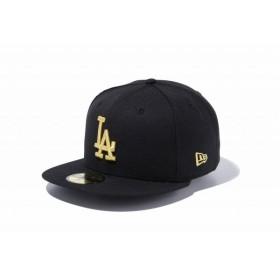 ニューエラ(NEW ERA) 59FIFTY MLB ロサンゼルス・ドジャース ブラック × ゴールド 11308632