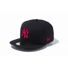 ニューエラ(NEW ERA) 59FIFTY MLB ニューヨーク・ヤンキース ブラック × ストロベリー 11308565