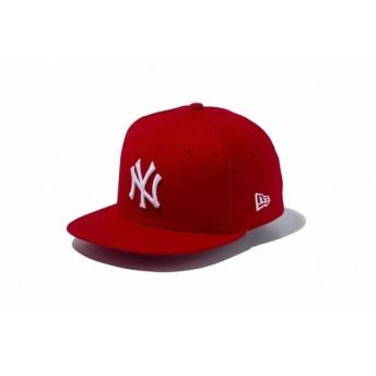 ニューエラ(NEW ERA) Child 9FIFTY ニューヨーク・ヤンキース スカーレット × ホワイト 11596316
