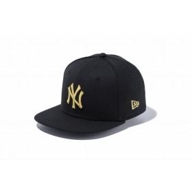 ニューエラ(NEW ERA) Child 9FIFTY ニューヨーク・ヤンキース ブラック × ゴールド 11596319
