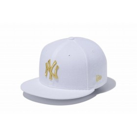ニューエラ(NEW ERA) 9FIFTY ニューヨーク・ヤンキース ホワイト × ゴールド 11433952