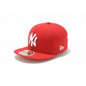ニューエラ(NEW ERA) Kids 59FIFTY ニューヨーク・ヤンキース スカーレット × ホワイト 11310401