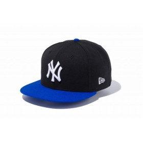 ニューエラ(NEW ERA) 9FIFTY ニューヨーク・ヤンキース ブラック × ホワイト ロイヤルバイザー 11308474