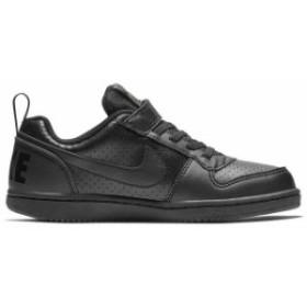 ナイキ キッズ 子供靴 スニーカー キッズ コート バーロウ LOW SL PSV ブラック×ブラック  NIKE AV3167-001