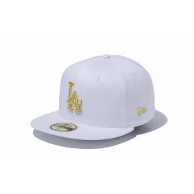 ニューエラ(NEW ERA) 59FIFTY MLB ロサンゼルス・ドジャース ホワイト × ゴールド 11308596