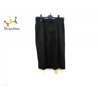 ニジュウサンク 23区 スカート サイズ38 M レディース ダークグレー×黒 ラメ スペシャル特価 20190524【人気】