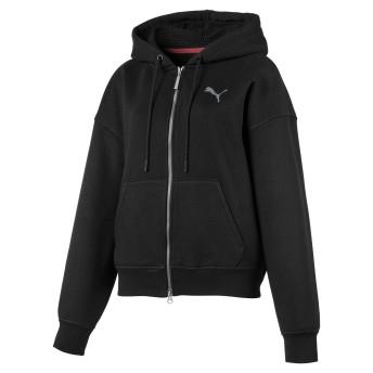 【プーマ公式通販】 プーマ SG x PUMA WOMEN'S FULL ZIP HOODIE ウィメンズ Puma Black  CLOTHING PUMA.com