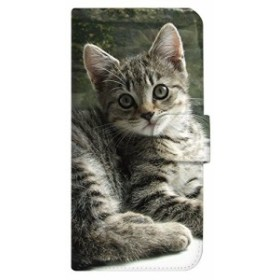 mitas iPhoneX ケース 手帳型 ネコ ねこ 猫 9 グレーねこ 猫 9 グレー (352) SC-0166-GY/iPhoneX
