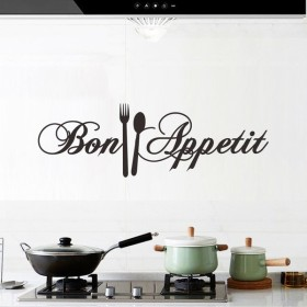 ウォールステッカー 転写シール 転写タイプ キッチン 台所 インテリ お洒落 Bon Appetit 壁デコ DIY