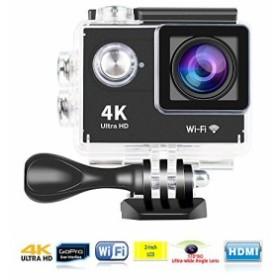 YUNTAB(JP) 4kカメラ170° 広角 スポーツカメラ 4k Mini DV Wi-Fiモデル 30M 防水  多機能アクションカメ晶 HD動画対応 (ブラック)