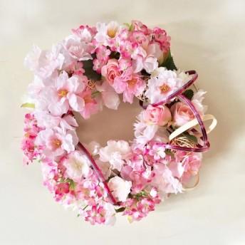 桜リース、春のときめきデコレーション CHE-01