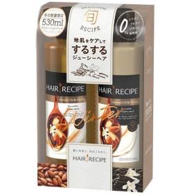 ヘアレシピ アーモンドオイル&バニラ シャンプー 530ml&トリートメント 530g ポンプセット 1個 P&Gジャパン
