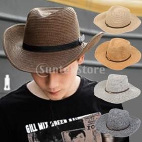 男性と女性の日焼け止めの西のカウボーイ野生の丘の帽子