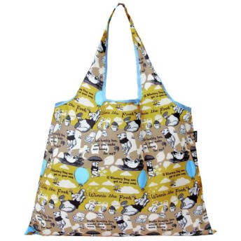 バッグ カバン 鞄 レディース エコバッグ 2WAYショッピングバッグ カラー 「プーさん(フウセン)」
