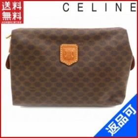 セリーヌ バッグ CELINE ポーチ 化粧ポーチ ブラウン 人気 良品 【中古】 X6111