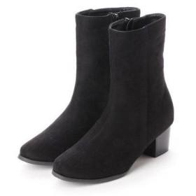アレッタ ALETTA シンプルミドル丈ブーツ (BLK-S)
