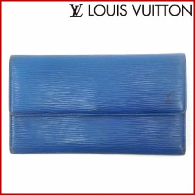 b682de8ae568 ルイヴィトン 財布 LOUIS VUITTON 長財布 三つ折り財布 ポルトトレゾールインターナショナル ブルー 人気 即納