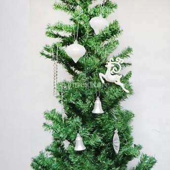 ノーブランド品 多種選択可 24PCS ミックス クリスマスパーティーの飾り クリスマスツリーの装飾 ハンギング 多色 - シルバー5