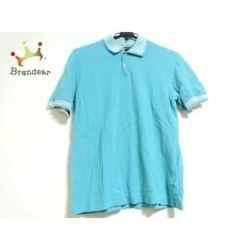 ポールスミス PaulSmith 半袖ポロシャツ サイズL メンズ 美品 ライトブルー×白   スペシャル特価 20190711